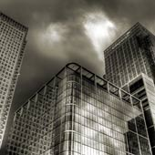 Canary Wharf Buildings BW