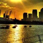Golden Sunset at Canary Wharf