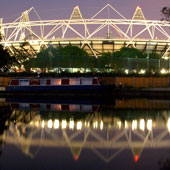 House Boat at the Olympic Stadium