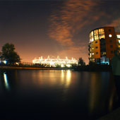 Night time at the Olympic Park