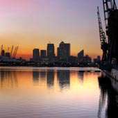 Sunset on Royal Victoria Dock