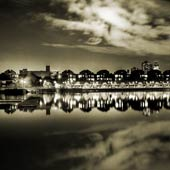 Shadwell Basin Mirror BW
