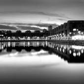 Shadwell Basin Sunset BW
