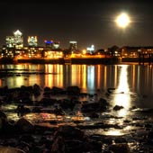 Super Moon from Wapping Beach