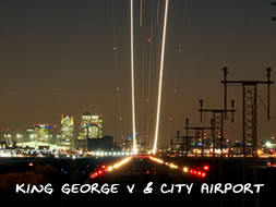 King George V Dock and London City Airport